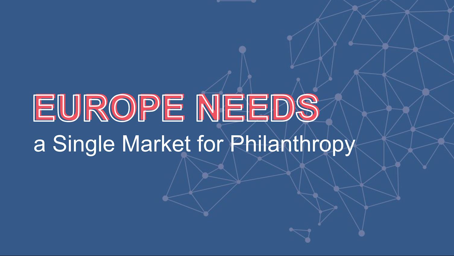 Single Market for Philanthropy